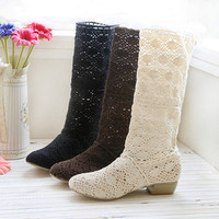 womens lace boots womens boots- handmade- preorder-freeshipping
