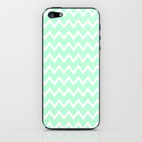 Mint Green Zigzag Stripes iPhone Case iPhone &amp; iPod Skin by productoslocos | Society6