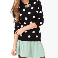 Peter Pan Collar Polka Dot Sweater | FOREVER 21 - 2000049820