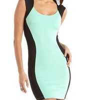 Color Block Scuba Body-Con Dress: Charlotte Russe