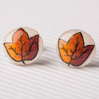 Autumn Leaf Post Earrings