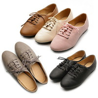 New Womens Shoes Oxfords Ballet Flats Loafers Lace Ups Low Heels Multi Colored