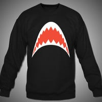 Jaws Shark Teeth Crewnec...