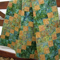 Handmade Batik Quilt Meadows on Luulla