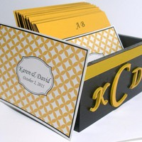 Custom Wedding Guest Box & Cards - .. on Luulla