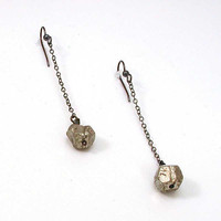 Pyrite and Sterling Silver EarringsThe Old Ball and by WoobieLove