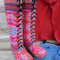 Anja Boot in Mixed Orange Hmong