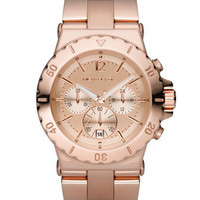Michael Kors Rose Golden Chronograph Watch - Michael Kors