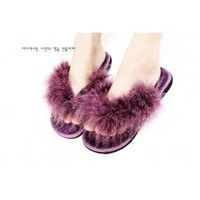 Wholesale Wholesale kvoll shoes fur flip flop T22400 - Lovely Fashion