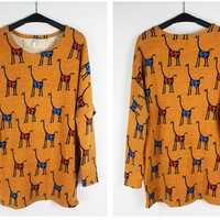 giraffe stripes snow deer sweater-EMS