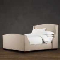 Warner Upholstered Bed with Footboard | Metal Beds | Restoration Hardware