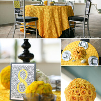 Style Unveiled - The Style Unveiled Wedding Blog - Yellow and Black Inspiration for your Wedding