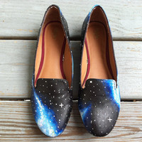 Galaxy Shoes - Handpainted Galaxies and Swarovski Crystal Stars
