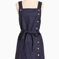 moffitt buttoned dress in navy by Dear Creatures at ShopRuche.com, Vintage Inspired Clothing, Affordable Clothes, Eco friendly Fashion
