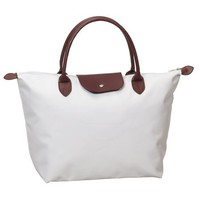 Womens Fashion Inspired Medium Size Elegant Nylon Sport Tote White