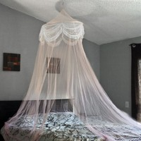 Pink Princess Bed Canopy Mosquito Net Bed Netting