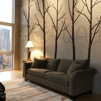 Art Wall Decals Wall Stickers  Winter Trees decal  wall by NouWall