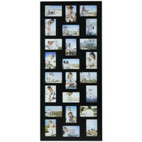 24-opening Wooden Wall Black Collage Photo Picture Frame Wall Decor, Holds Twelve 4-by-6-inch and T