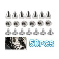 Amazon.com: SODIAL- 50Pcs Metal Cone Screwback Spikes Stud Leather Cloth Craft DIY Goth Punk Spot: Toys & Games