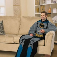 DC Comic Batman, Batman in Black 48-Inch-by-71-Inch Adult Comfy Throw with Sleeves by The Northwest