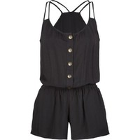FULL TILT Button Front Womens Romper