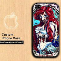 Little Mermaid zombie iPhone 4 Case / iPhone 4S by doyouhearthem45
