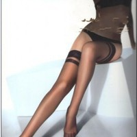 Wholesale Hot Sale Transparent Sexy Stockings Black