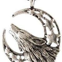 Howling Wolf Moon Celestial Amulet Necklace Pendant Charm Wicca Wiccan Pagan Metaphysical Spiritual Religious Women's Men's Jewelry: Jewelry: Amazon.com