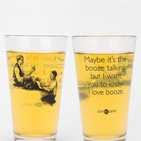 Urban Outfitters - Booze Talking Pint Glass