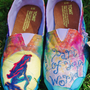 RESERVED -- Custom Hand-Painted Movie-Themed Toms (Shoes and Art)