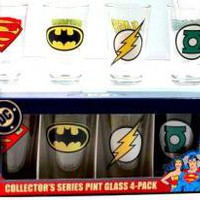 DC Comics, Glass Mug Set, Superhero Insignias