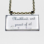 Limb and Fingers Jewelry Shop- Hermione Mudblood Quote Harry Potter Necklace