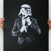 Smart trooper -  Star Wars Art Screen printed poster ( Storm trooper print, Star Wars print )