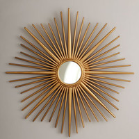 Golden Sunburst Mirror - Horchow