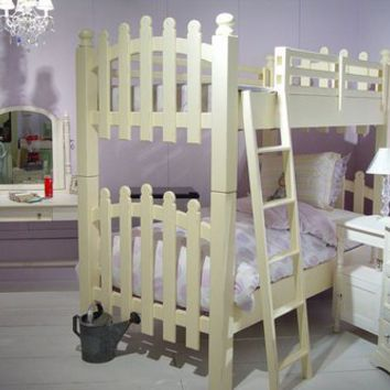 Picket Fence Bunk Bed by Newport Cottages, Beds, Furniture for Girls