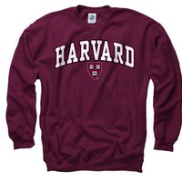 Harvard Crimson Youth Maroon Perennial II Crewneck Sweatshirt