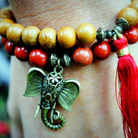 Good Luck Ganesh Mala Bracelet Set