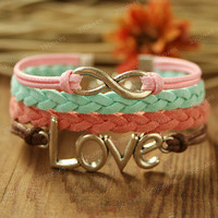 Girls Bracelet - infinity bracelet for girls and GF, unique love bracelet for Christmas gift.