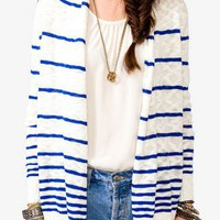 Open Front Striped Sweater | FOREVER 21 - 2021839354