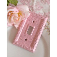 Shabby Darling Ornate Pink Iron Single Flip Switch Cover - OUTLET & SWITCHPLATE COVERS - WALL DECOR