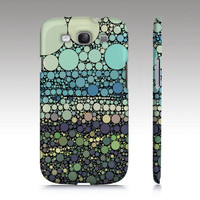 BEACH ROUNDS Samsung Galaxy S3 Case Cover Barely There SnapOn circles aqua brown black blue green