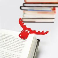 Bookmark Rudolf Set of 2 solid raspberry red | Koziol Shop