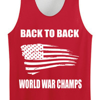 Back to Back World War Champs USA Pinnies Mesh Jersey Back to Back World War Champs