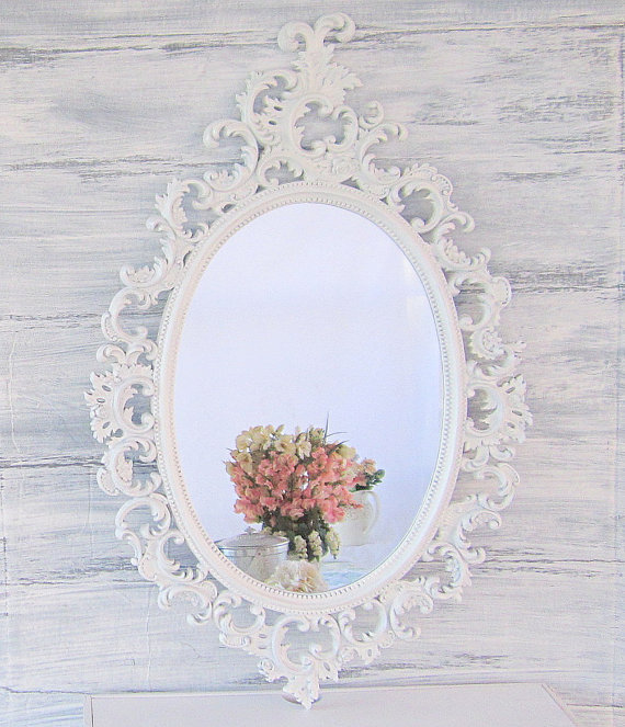 French country mirrors for sale oval from revivedvintage for Decorative wall mirrors for sale