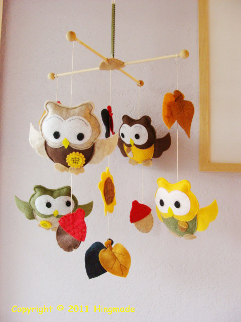 Baby Crib Mobile Nursery Baby Mobile Ceiling Hanging by hingmade