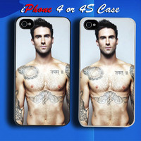 KIKA Adam Levine Maroon Five Custom iPhone 4 or 4S Case Cover from namina