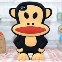 Amazon.com: Paul Frank 3D Big Mouth Cartoon Monkey Silicone Case for iPhone 4S/4G - Black: Cell Phones & Accessories