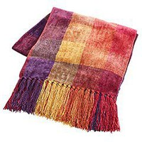 Product Detail - Purple Plaid Chenille Throw