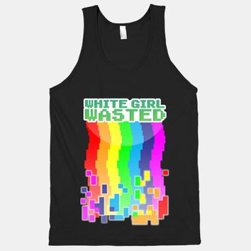 White Girl Wasted (8 bit Rainbow Tank) | HUMAN