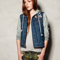 Denim Jacket with Grey Sleeves